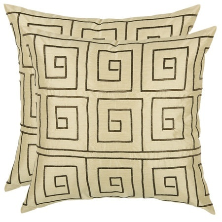 Square design pillows