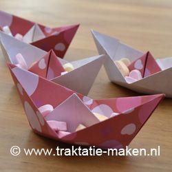 Afbeelding van de traktatie Valentijns bootje