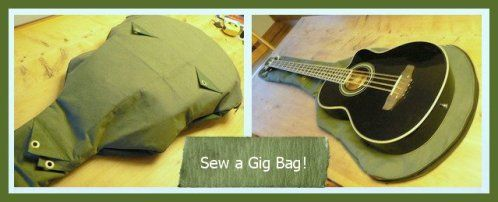 Sew a Gig Bag for a Guitar Bass Ukulele Banjo