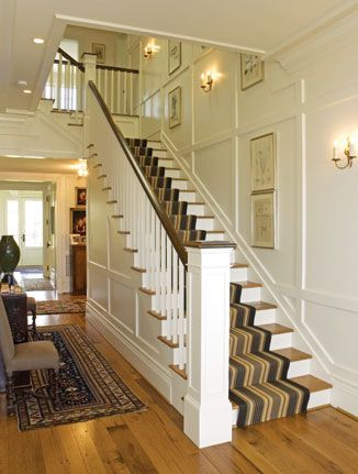 center hall colonial staircase - Google Search