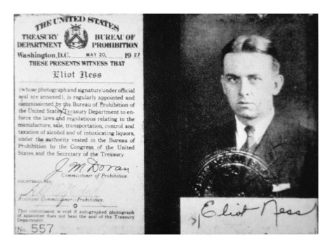Prohibition Agent ID Card of Eliot Ness (1903-57) Dated 20th May, 1927 (Litho) Giclee Print