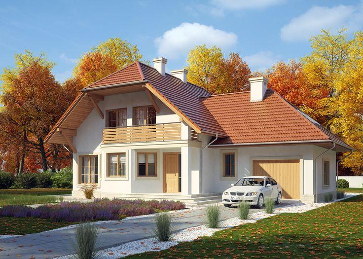 LK&495 to projekt domu jednorodzinnego o tradycyjnej bryle, z dachem wielospadowym. Jest to dom parterowy z poddaszem użytkowym oraz jednostanowiskowym garażem w bryle budynku. Na niecałych 170 m2 znajdują się: pokój dzienny z jadalnią i częściowo otwartą kuchnią, 5 sypialni, 2 łazienki, pralnia i pomieszczenia gospodarcze. Więcej szczegółów na: http://lk-projekt.pl/lkand495-produkt-448.html