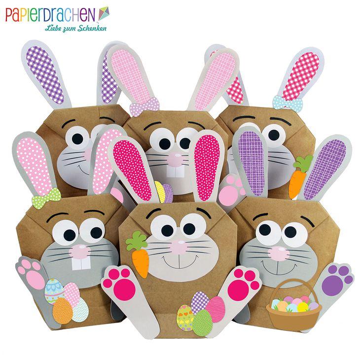 DIY Osterhasen zum selber Basteln und Befüllen - ein Geschenk von Herzen - zu Ostern Osterhase - rosa - für Mädchen