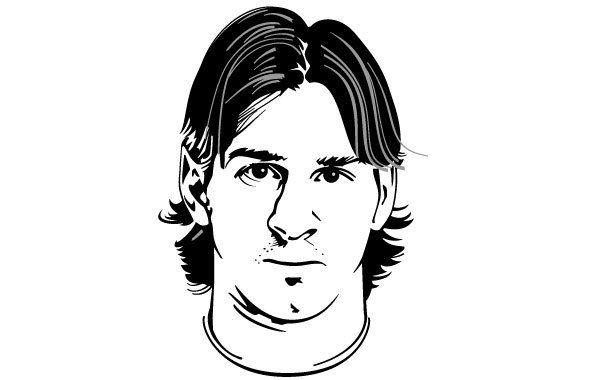 Lionel Messi Vector Portrait Karikatur Wajah
