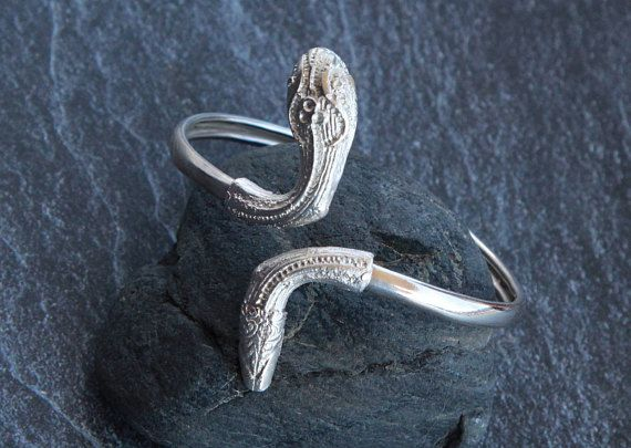 Silver snake cuff bracelet Snake bracelet Silver cuff bracelet