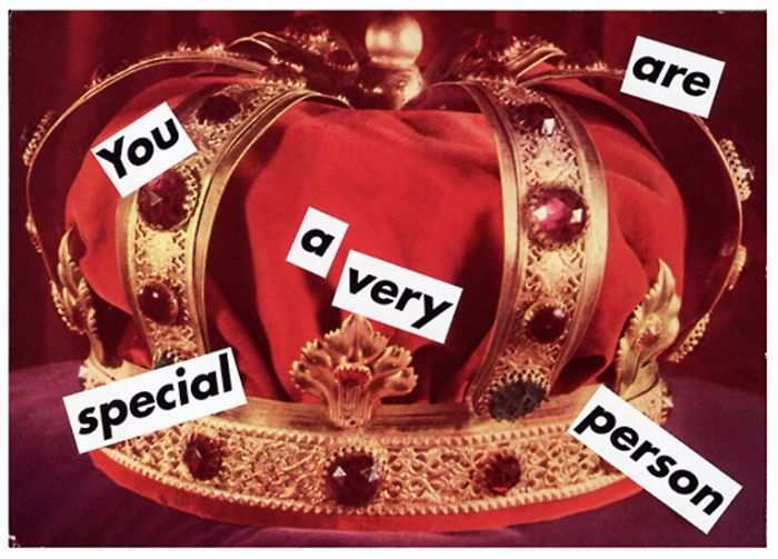 """""""Untitled (You Are A Very Special Person)"""" Barbara Kruger Style: Conceptual Art, Feminist Art Genre: figurative"""