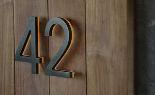 "Illuminated Bronze House Numbers 8"" - Outdoor Backlit Signs - modern - house numbers - los angeles - by Surrounding - Modern Lighting & Furn..."