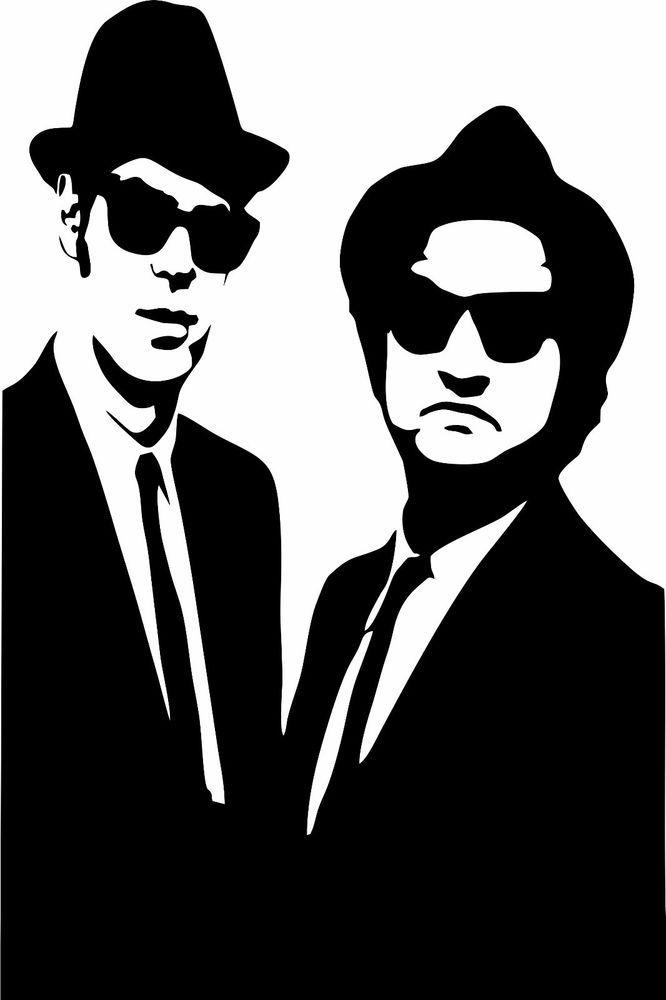Blues Brothers Wall Art Vinyl Decal Sticker Home Decor
