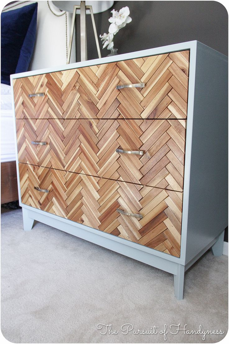 DIY herringbone dresser (completly from scratch) - This might just be my favorite DIY dresser of all time