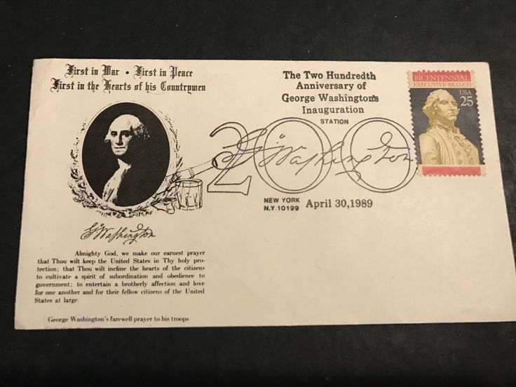George Washington 200th Anniversary Inaugaration  Envelope Cover 1989