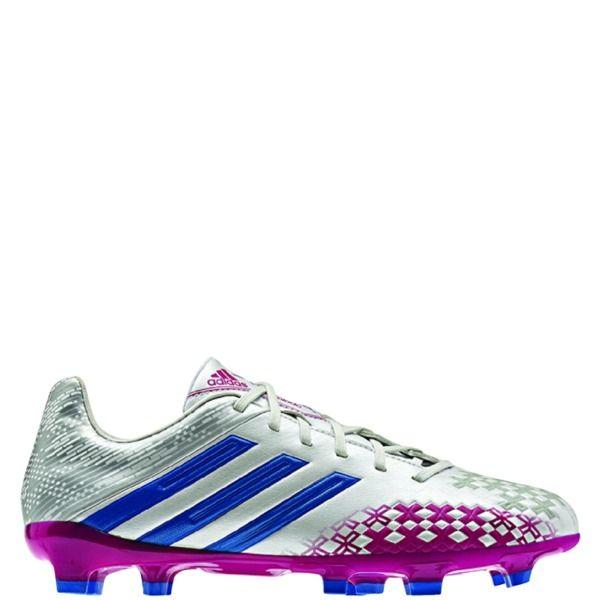adidas Predator Absolado LZ TRX FG Running White/Pride Blue/Blast Pink Women's Soccer Cleats - model G95097- Only $62.99