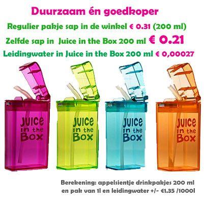 Juice in the box het afvalloze drinkpakje dat je keer op keer kunt vullen heet nu Drink In The Box #juiceinthebox #drinkinthebox