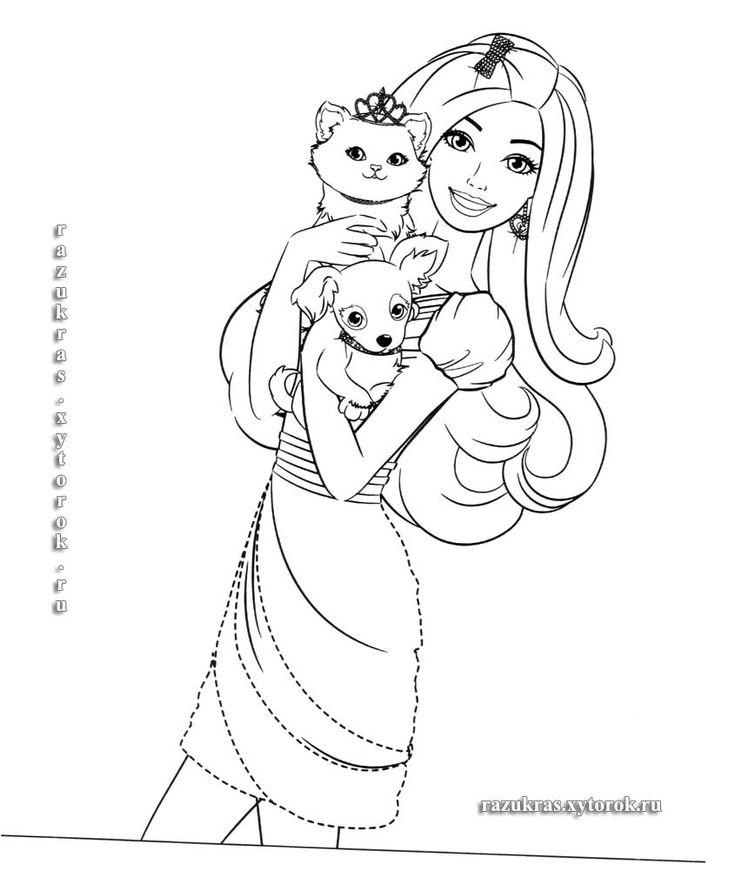 Раскраски Умная и красивая Барби 14