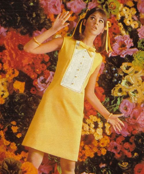 Colleen Corby for Seventeen magazine, 1967. That. Dress. Is. Adorable.