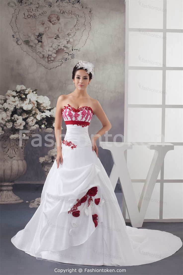 Christmas wedding dress zipper - Wedding Dress Wedding Dresses Wedding Dress Wedding Dresses Ball Gown Satin Taffeta Jersey Sweetheart Empire Chapel Train Zipper Sleeveless Appliques