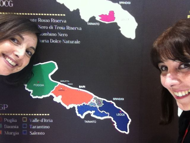 me and Francesca Rizzi, marketing manager of Castel di Salve winery