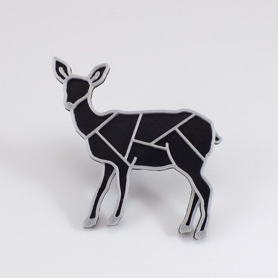 3D printed - Doe black/silver