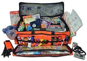 Lightning X O2 Medic First Responder EMT Trauma Jump Bag First Aid Stocked Kit D  | eBay