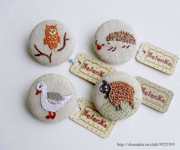 Ґудзики ручної роботи з вишивкою SKRYNYA.UA — Handmade ярмарок України
