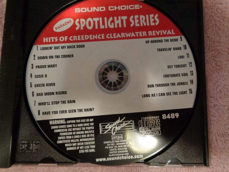 KARAOKE Sound Choice 8347 Spotlight Series HITS OF CREEDENCE CLEARWATER REVIVAL