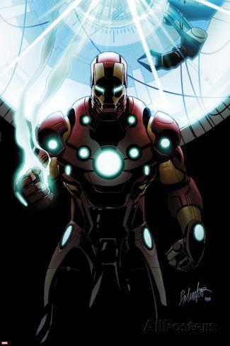 Invincible Iron Man No.501 Cover: Iron Man Standing Poster van Salvador Larroca bij AllPosters.nl