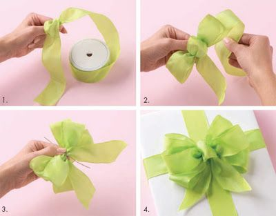 Técnicas para hacer moños de regalo ~ cositasconmesh