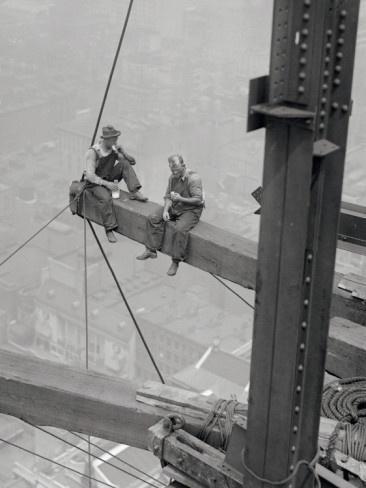 Workers Sitting Steel Beam #newyork, #NYC, #pinsland, https://apps.facebook.com/yangutu