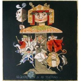 Paolo Fresu, La Giostra di Re Teatrino Serigrafia e collage #gliartistidiGALP