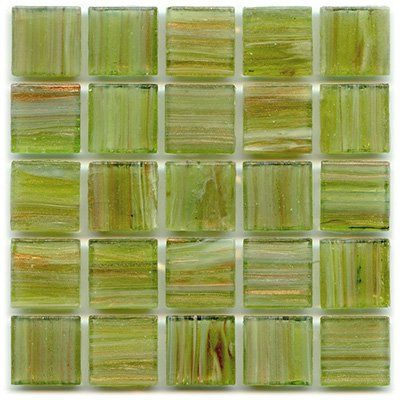 "3/4"" Vitreous Tile - P 50 Peridot - 1 lb bag Hakatai Glass Tile  3/4"" glass tile, Smooth faced on the front with grooves on the back of the tile  Perfect for beginners or professional mosaic tile artists and crafters  Waterproof, frost-proof, suitable for indoor/outdoor use  1 lb bag covers around 2/3 of a SF"