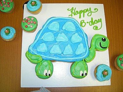 Turtle Cupcake Cake | Ideas for Preston's 1st Birthday | Pinterest