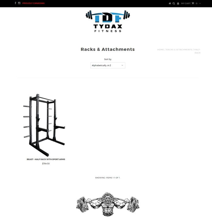 We have the best collection of half rack fitness equipment at the cheapest price online on Tydax.com. Shop now https://tydax.ca/collections/racks-attachments/Half-Rack