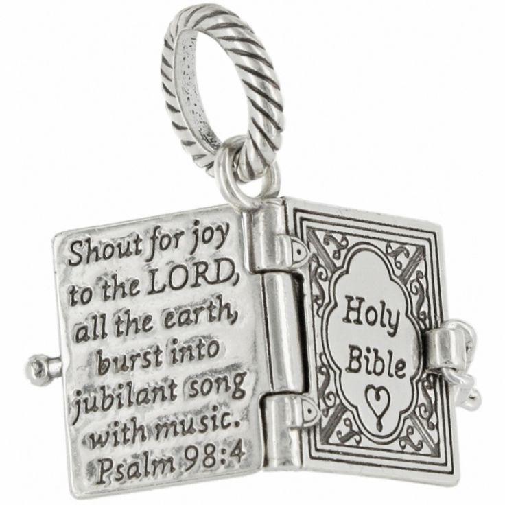 Brighton charm bracelet Bible charm