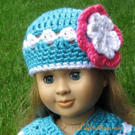 Pattern in PDF -- crocheted doll poncho for American Girl or similar 12-18 inches dolls (paid pattern - etsy)