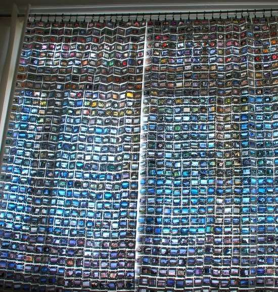 These Photo Curtains Are Made Entirely of 35mm Picture Slides #DIY #home trendhunter.com