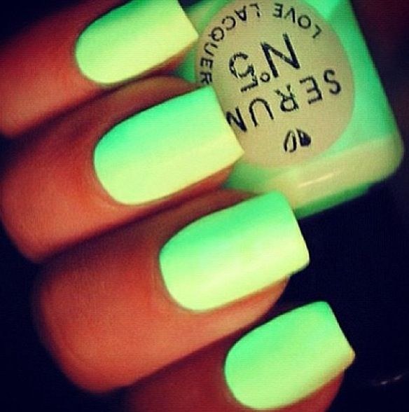 Lime green nails