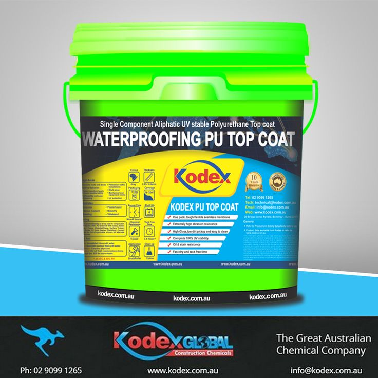 If you are looking for protective top coating for your external balconies, roofs, decks, work areas and equipment rooms of your factory, then Kodex PU Top Coat is the best option for you, that provides an extreme level of performance. It's an easy to clean, low dirt pickup, tough & elastomeric product with fast drying capabilities. To know more click: http://www.kodex.com.au/wp-content/uploads/2015/02/Kodex-PU-top-coat.pdf #Waterproofing #WaterproofingMembrane #Coating #topcoat