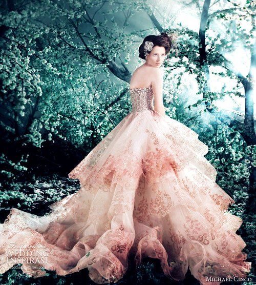 10 best Pink and White Wedding Dresses images on Pinterest ...