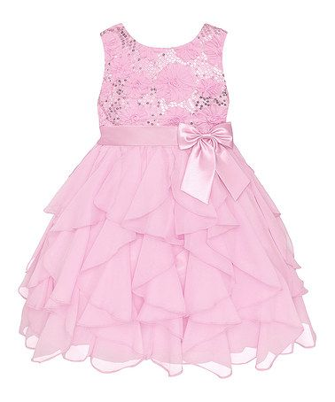 Look what I found on #zulily! Ice Pink Sequin Ruffle Dress - Infant, Toddler & Girls #zulilyfinds