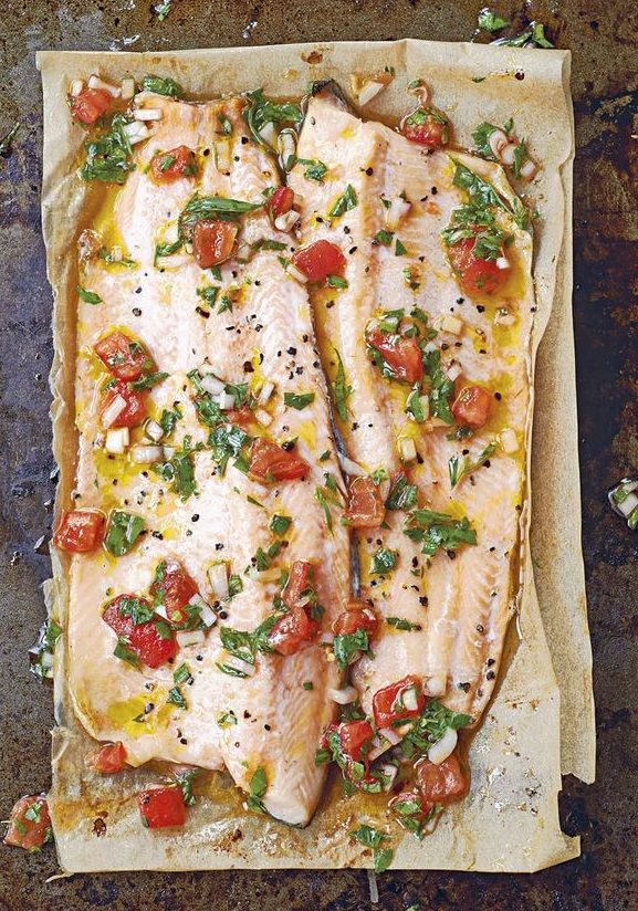 GRILLED TROUT with SAUCE VIERGE [France] [foodandtravel]                                                                                                                                                     More