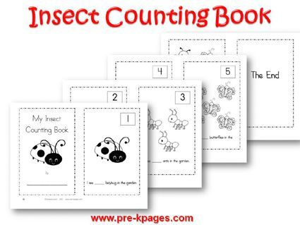 Printable Insect Counting Book 1-5 #preschool and #kindergarten