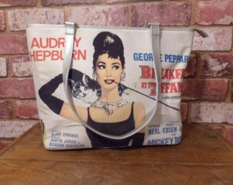 VINTAGE AUDREY HEPBURN HANDBAG ~ BREAKFAST AT TIFFANY'S  TAKEN FROM THE MOVIE POSTER