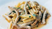 Pasta med fläsk och champinjoner | Recept
