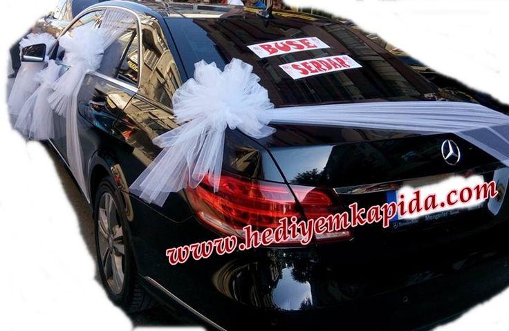 Balıkesi̇r Çiçek - Çiçekler Online - Çiçek Gönder ~ Siyah Mercedes Gelin Arabası Süsü