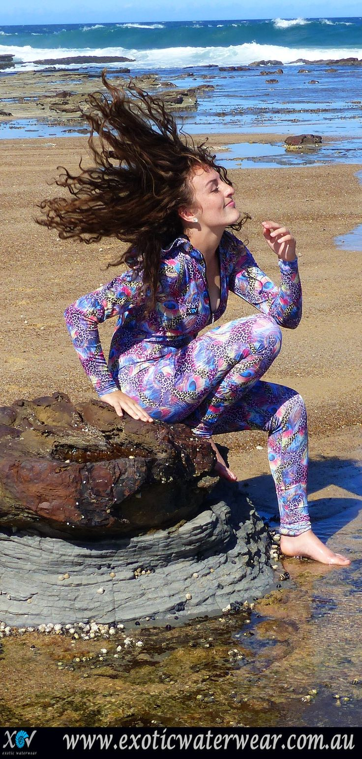 Have fun in the sun and save your skin! UPF 50+ sunprotection! Buy stinger suits with style! www.exoticwaterwear.com.au #stingersuit #snorkeling #sunprotection