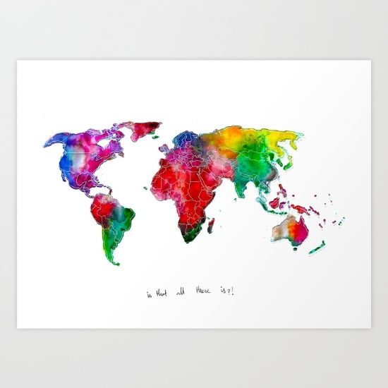 World Map - is that all there is? https://society6.com/product/world-map-rainbow-swi_print?curator=yazrajadesigns #alllivesmatter #aniamsl #humans #onelove