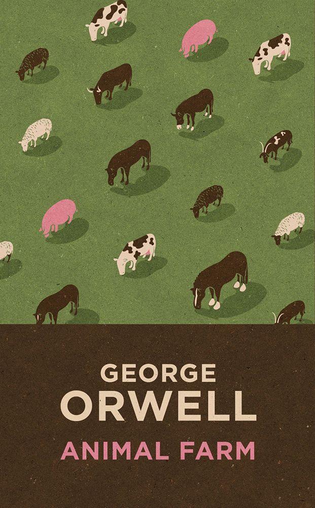 How does Orwell explore the problem of rhetoric in Animal Farm?