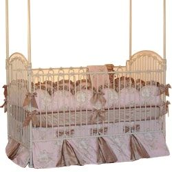 Buy Angelique Crib Bedding  by aBaby.com - Limited Edition designer Furniture from Dering Hall's collection of Traditional Crib Sets & Sheets.