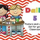 Daily 5 Posters for you classroom! They are colorful chevron themed!