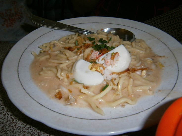 Mie celor, traditional noodle from Palembang, South Sumatera, Indonesia