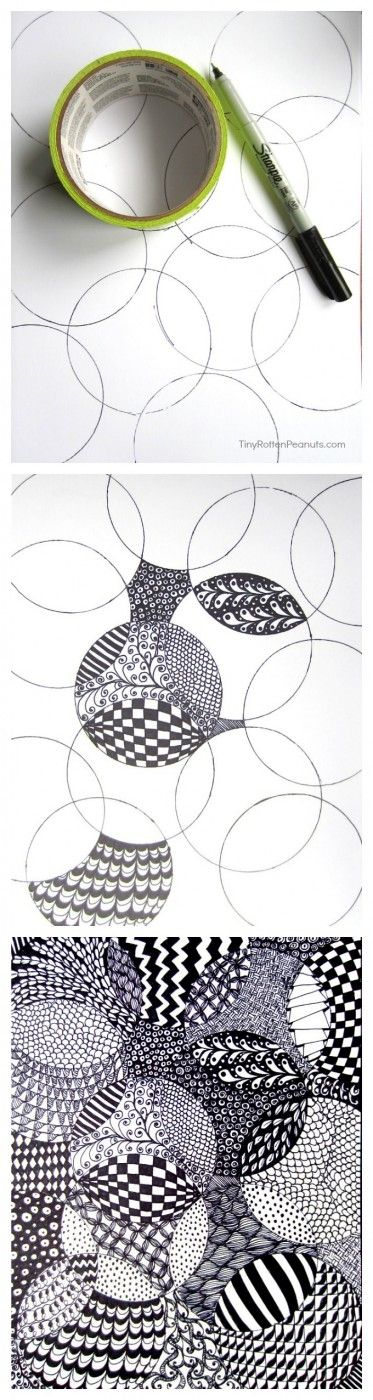 Cool and and super-easy zentangle drawing project